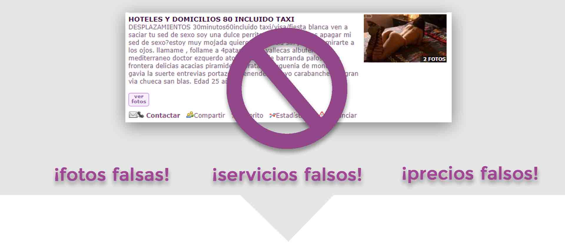 anuncio falso putas en Valencia